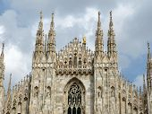 The spiers of the Duomo of Milan - Lombardy - Italy poster