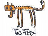 A dead fox. Cartoon. Vector illustration. EPS 10 poster