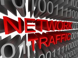 Network Traffic in the form of binary code isolated on white background. High quality 3d render.