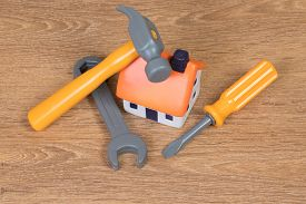 House And Tools As Concept For Home Improvement