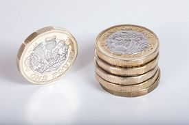 Detail Of The New British Pound Coin