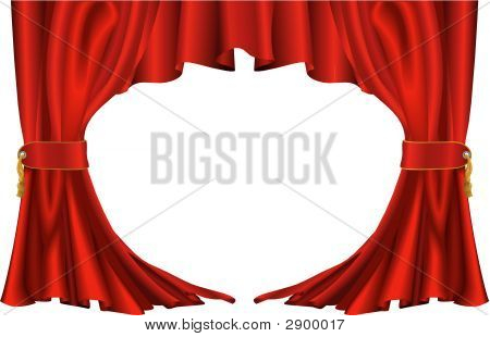 Red Theatre Style Curtains
