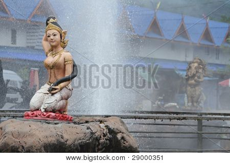 Fountain at Chiang Rai in Thailand