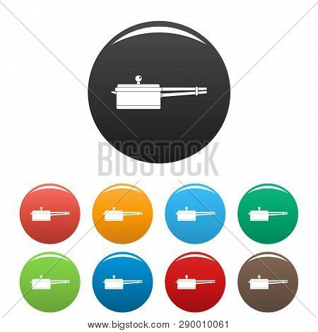 New Saucepan Icons Set 9 Color Vector Isolated On White For Any Design