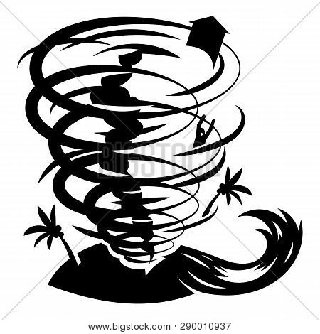 Hurricane Icon. Simple Illustration Of Hurricane Vector Icon For Web Design Isolated On White Backgr