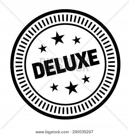 Deluxe Stamp On White Background. Sign, Label Sticker