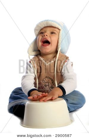 Smiling Boy With Bowl