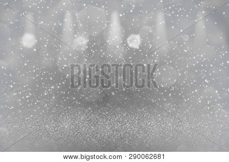 Red Cute Brilliant Abstract Background Stage Spotlights With Sparks Fly Defocused Bokeh - Festal Moc