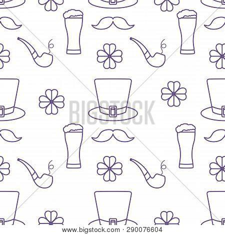 Seamless Pattern St. Patrick's Day. Irish Vector