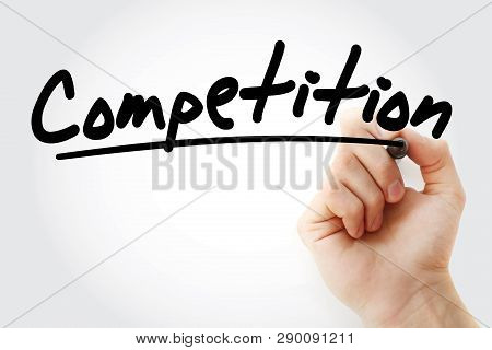 Competition Text With Marker, Business Concept Background