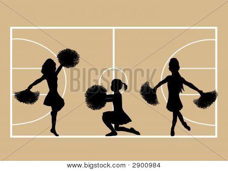 Cheerleaders Basketball 4