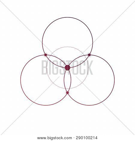 Flower Of Life Sacred Geometry Minimal Tattoo Sketch On White Background