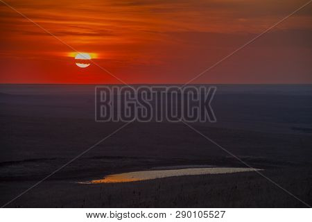 Sunset Over The Flint Hills Of Kansas