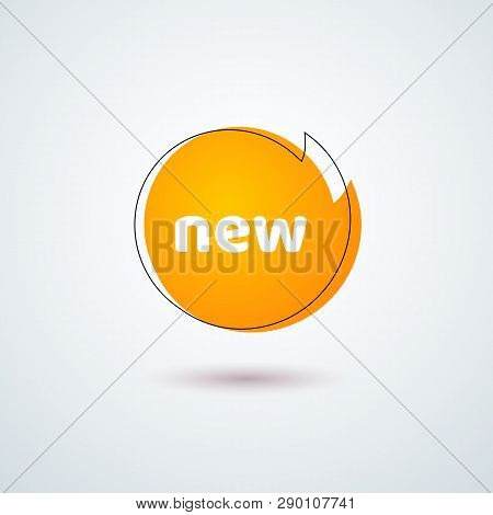 Tag Price Label Title New Bright Orange Round Banner Frame Design Element For Advertising Discount S