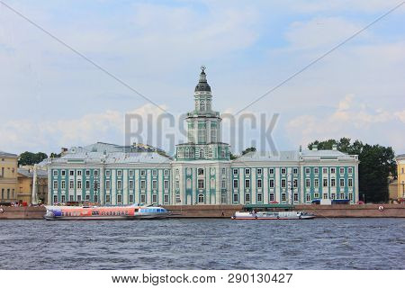 St. Petersburg, Russia - August 9, 2018: Kunstkamera Museum Of Anthropology And Ethnography Architec