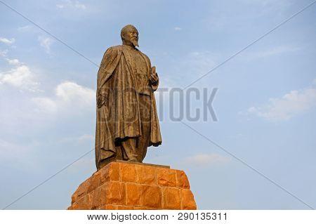 Almaty, Kazakhstan - July 27, 2017:the Monument Of Abai Qunanbaiuli In Almaty. Abay Qunanbayuli (184