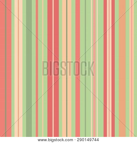 Vibrant Vertical Random Stripes In Vibrant Tropical Colours. Seamless Geometric Vector Pattern With