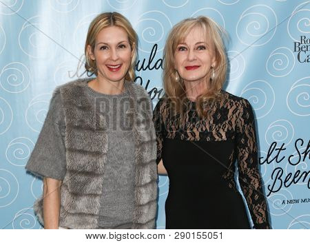 NEW YORK-APR 14: Actors Kelly Rutherford (L) and Caroline Lagerfelt attend the Broadway opening night for 'It Shoulda Been You' at Brooks Atkinson Theatre on April 14, 2015 in New York City.