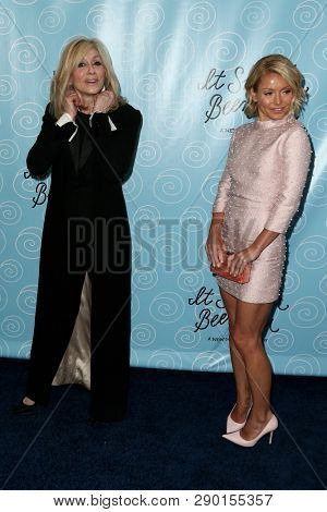 NEW YORK-APR 14: Actors Judith Light (L) and TV personality Kelly Ripa attend the Broadway opening night for 'It Shoulda Been You' at Brooks Atkinson Theatre on April 14, 2015 in New York City.
