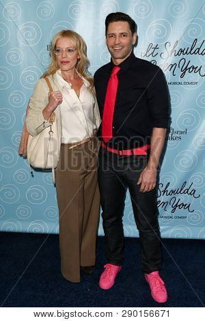 NEW YORK-APR 14: Actors Sherie Rene Scott (L) and Sean Palmer attend the Broadway opening night for 'It Shoulda Been You' at Brooks Atkinson Theatre on April 14, 2015 in New York City.