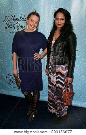 NEW YORK-APR 14: Actress Liesel Allen Yeager (L) and guest attend the Broadway opening night for 'It Shoulda Been You' at Brooks Atkinson Theatre on April 14, 2015 in New York City.