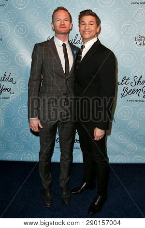 NEW YORK-APR 14: Neil Patrick Harris (L) and husband David Burtka attend the Broadway opening night after party of 'It Shoulda Been You' at The Edison Ballroom on April 14, 2015 in New York City.