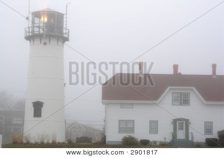Cape Cod Lighthouse In Fog