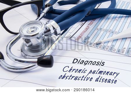 Diagnosis Of Chronic Pulmonary Obstructive Disease (copd). On Doctors Table Lies Paper With Title Ch