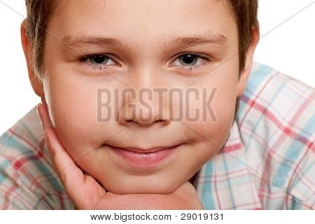 Extreame Close-up Portrait Of A Smiling Boy