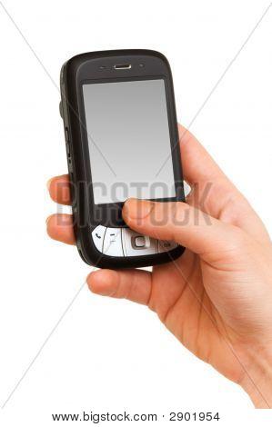 Hände arbeiten auf einem smartphone