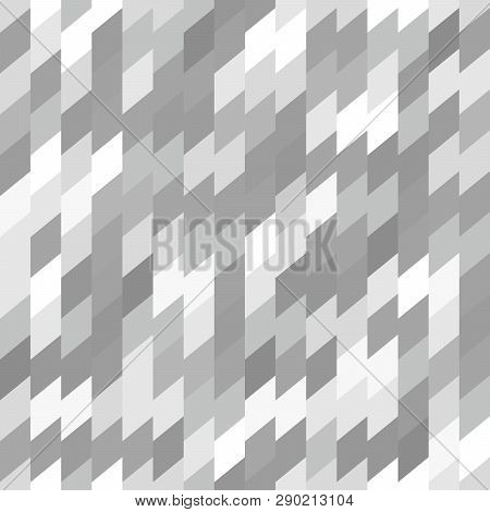 Seamless Background Pattern With Rhomboids.  Vector Graphic Illustration In Grayscale.