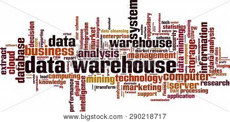 Data Warehouse Word Cloud Concept. Vector Illustration On White