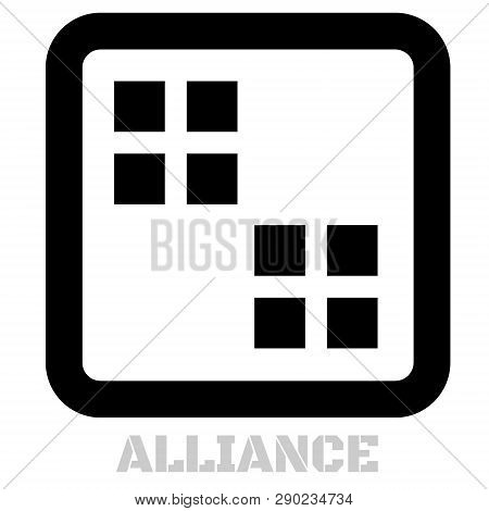 Alliance concept icon on white flat illustration. poster