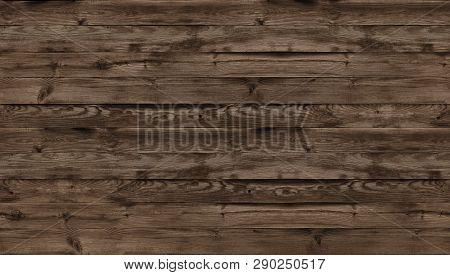 Brown Wood Texture, Top View Of Wooden Table. Dark Wall Background, Texture Of Old Top Table, Grunge