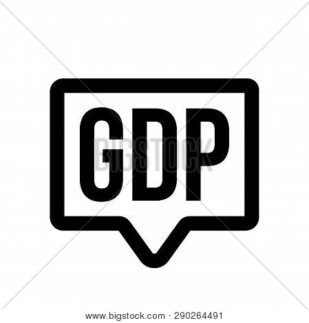 Gdp Investment Profit, Gross Domestic Product Vector Icon