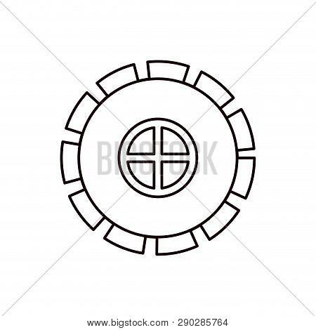 Sketch Silhouette Gear Wheel Pinion Icon Vector Illustration