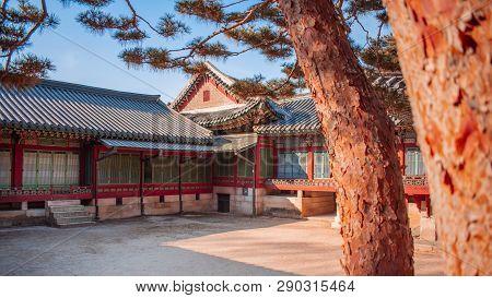 Temple Traditionnel à Séoul En Corée Du Sud