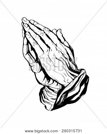 A Vector Illustration Of Praying Hands Inspired By Albrecht Durer S1508 Study