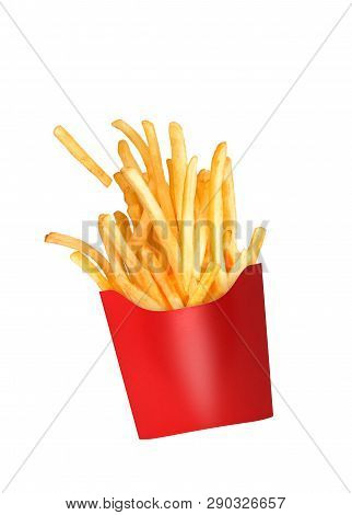 French Fries Fly Out Of The Glass