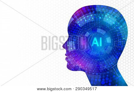 Artificial Intelligence, Virtual Emulation, Science Technology. Neural Network. Digital Engineering