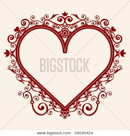 heart in shape frame