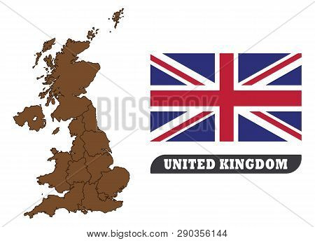 Map Of United Kingdom And Flag Of United Kingdom . Map Of United Kingdom And Flag Of United Kingdom