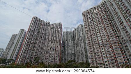 Chuk Yuen, Hong Kong 04 March 2019: Hong Kong residential apartment building