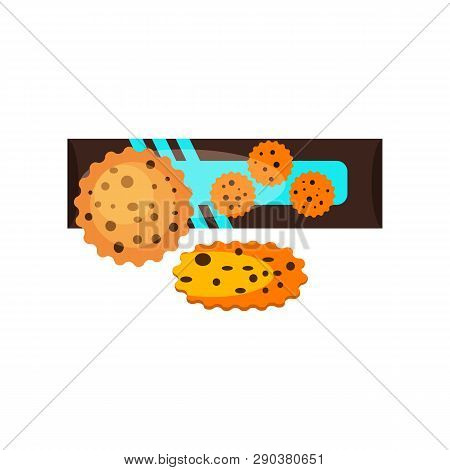 Package Of Chocolate Cookies. Delicious Biscuits With Raisins. Can Be Used For Topics Like Dessert,