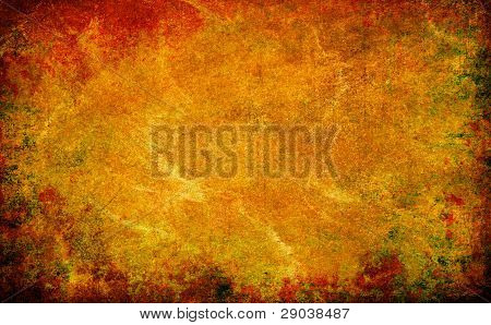 Yellow Abstract Grunge Texture Background