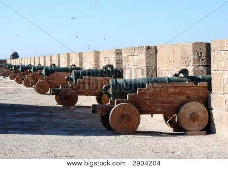 Canons On Battlements