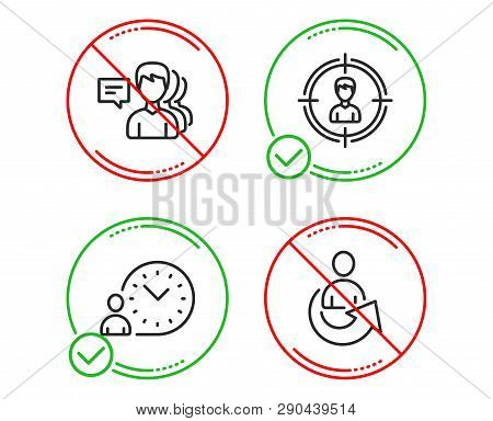 Do Or Stop. People, Headhunting And Time Management Icons Simple Set. Share Sign. Support Job, Perso