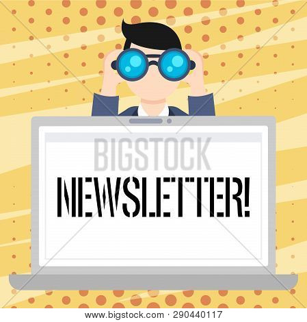 Handwriting Text Newsletter. Concept Meaning Bulletin Periodically Sent To Subscribed Members News R