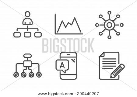 Diagram, Ab Testing And Management Icons Simple Set. Restructuring, Multichannel And Article Signs.