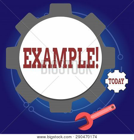 Writing Note Showing Example. Business Photo Showcasing Illustration Sample Model To Follow Guide Ex